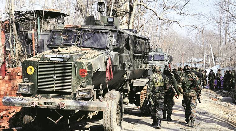 Kulgam, kulgam attack, anantnag attack, kashmir unrest, kashmir attack, kashmir militant attack, four killed-militant attack, militant dead, kashmir-india-pakistan, terrorists-kashmir, india news, indian express