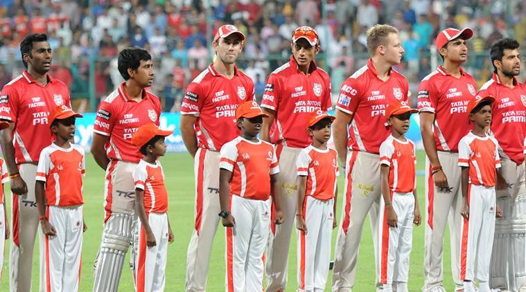ings XI Punjab players ahead of the final match of IPL 2014 between Kings XI Punjab and Kolkata Knight Riders at M Chinnaswamy Stadium in Bangalore on June 1, 2014. (Photo: IANS)