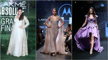 Lakme fashion week, LFW 2017, LFW 2017 celebs, bollywood stars LFW 2017, LFW S/R 2017 grand finale, LFW 2017 final day collections, kareena kapoor, sushmita sen, malaika arora khan, tabu, disha patani, fashion news, LFW 2017 photos
