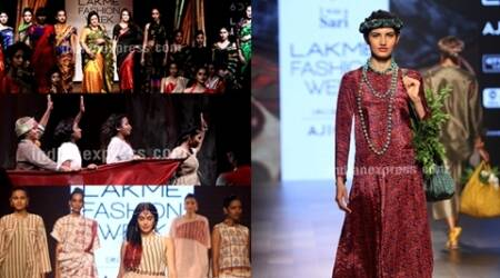 lakme fashion week, lakme fashion week day 2, lakme fashion week day 2 collection, lfw s/r 2017, lakme fashion week preity zinta, adah sharma lfw, mugdha godse lfw, indian express, indian express news
