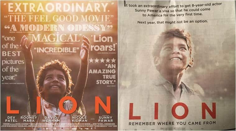 Lion, lion sunny pawar, lion poster