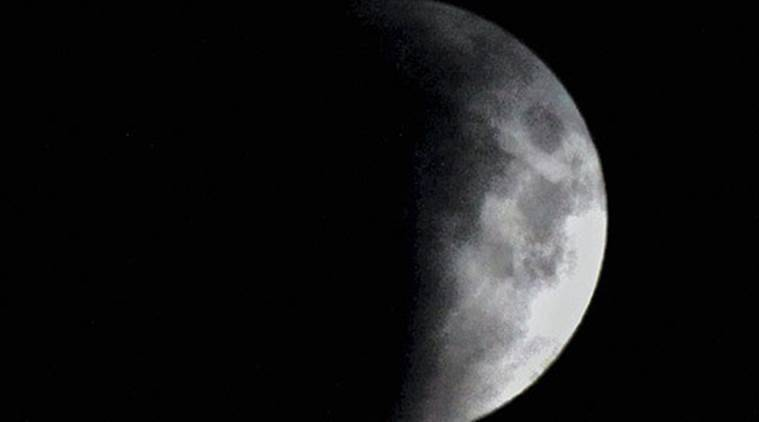 See it! Full moon and partial eclipse