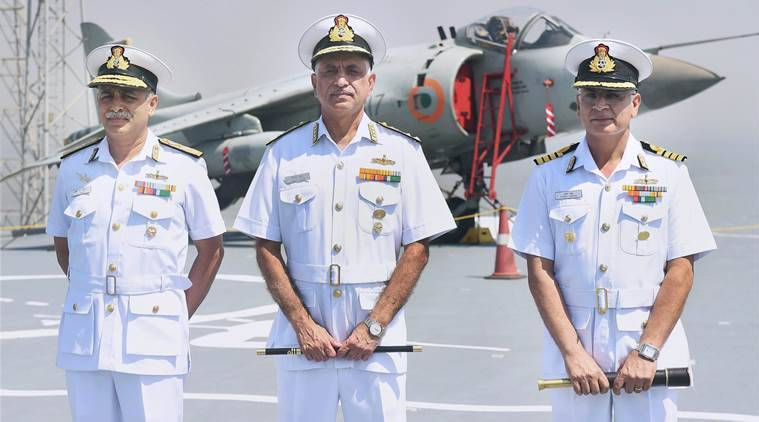 Girish Luthra, Vice Admiral Girish Luthra, Indian Navy, Indian Navy choppers, Choppers inducted to Indian Navy, INS Chennai, INS Kochi, INS Delhi, indian express news