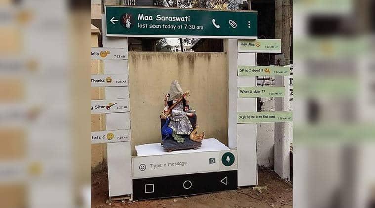 photo goddess saraswatis whatsapp chat viral trending newsthe indian express