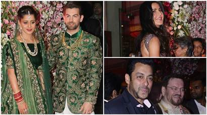 Neil Nitin Mukesh and Rukmini Sahay wedding reception: Salman Khan, Katrina Kaif, Amitabh Bachchan and other Bollywood stars attend