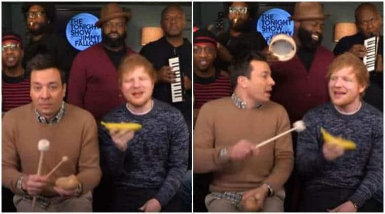 Ed Sheeran, Ed Sheeran news, Ed Sheeran video, Jimmy Fallon, Jimmy Fallon show, Jimmy Fallon ed sheeran, ed sheeran Jimmy Fallon, Ed Sheeran new album, Ed Sheeran song, Ed Sheeran shape of you, entertainment news, indian express news