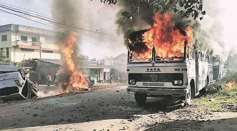 Manipur crisis, Manipur economic blockade, Naga group, Manipur-Nagaland, economic blockade, United Naga Council, UNC, India news, Indian Express