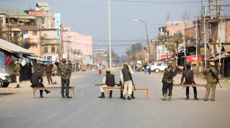 Shutdown against Manipur's merger with Indian Union cripples life