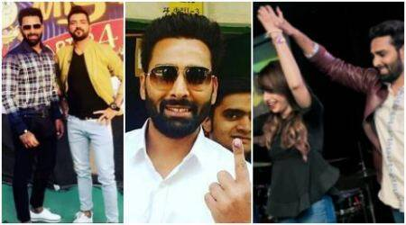 Bigg Boss 10 winner Manveer Gurjar takes time off from meeting Manu Punjabi, Nitibha Kaul, casts his vote in Noida. See pics