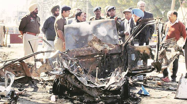 The blast had left six dead and several others injured. Express