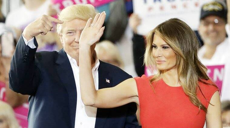 Melania Trump Goes For An Understated Alexander Mcqueen At Donald Trump Rally Lifestyle News The Indian Express