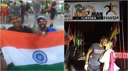 Milind Soman, Milind Soman ultraman content, ultraman florida contest, 2017 ultraman florida title, Milind Soman ironman, Milind Soman ultraman 2017 title, fitness news, lifestyle news, entertainment news, indian express