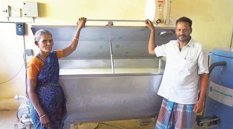 Bulk milk coolers, rural milk, rural power supply, milk procurement, dairy cooperatives, gujarat dairy cooperatives, pre-BMC era, Thermal Storage System, indian express news, milk, india news