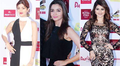 shilpa shetty, alia bhatt, varun dhawan, urvashi rautela, sophie chaudhary, mirchi awards night, celeb fashion, indian express, indian express news