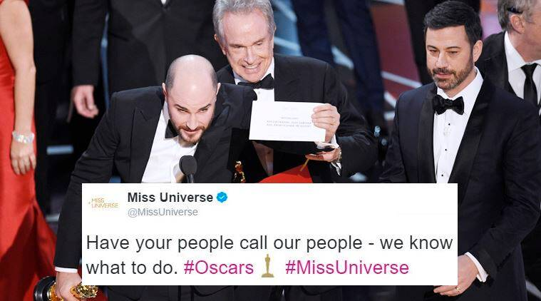 miss uni troll_759 oscars 2017 goof up when miss universe brilliantly trolled the,Steve Harvey Meme Oscars