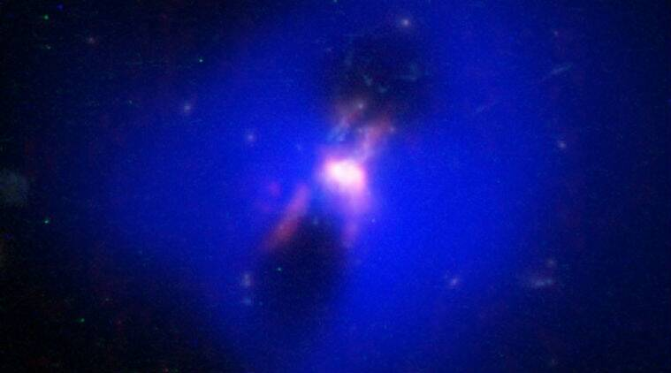 black hole, blackhole aids star formation, Pheonix cluster, Pheonix galaxy cluster, Super massive black holes aids galaxies, MIT, massive galaxy, Pheonix cluster star producing power,  Atacama Large Millimetre Array , Star bursts,  NASA's Chandra X-Ray Observatory , Science, Science news