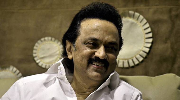 DMK Working President MK Stalin during an interview with the PTI at his residence in Chennai. PTI Photo