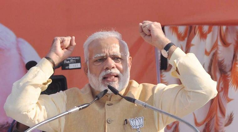 Narendra Modi, Modi, PM Modi, Prime Minister Narendra Modi, Modi Haridwar, PM Modi Haridwar rally, Uttarakhand Polls, Uttarakhand asssembly elections 2017, Rajnath Singh, Narendra Modi on Congress, congress, BJP, Rahul gandhi, Narendra Modi's Manmohan singh, Modi's raincoat remarks, India news, uttarakhand news, haridwar, indian express news
