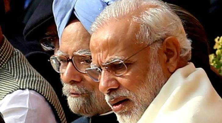 narendra modi, pm modi, manmohan singh, modi remark, raincoat remark, modi target manmohan, congress, congress target modi, parliamnet, budget session, indian express news, india news