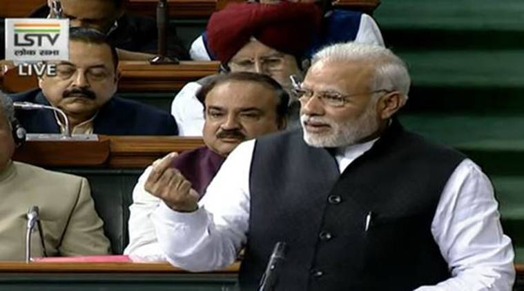 Narendra Modi, PM Modi, PM mODI-CONGRESS, Modi-Rahul Gandhi, BJP-Congress, Lok Sabha, earthquake remark, Uttarakhand, India news, Indian Express