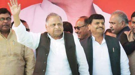Samajwadi Party, Akhilesh Yadav, Mulayam Singh Yadav, SP news, Etawah, SP Etawah rally, Etawah SP rally, UP polls, UP campaigning, UP elections, UP news, India news