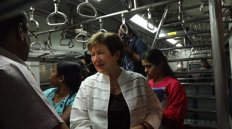 mumbai, world bank ceo, Kristalina Georgieva, world bank ceo mumbai local, Kristalina Georgieva mumbai local, mumbai local train world bank, world bank chief, arun jaitley world bank chief, india news, mumbai news, latest news, indian express news