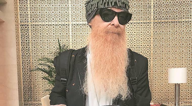 The painting Billy Gibbons made after his adventure in a Mumbai slum