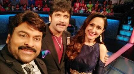 Chiranjeevi, meelo evaru koteeswardu, MEK chiranjeevi, chiranjeevi nagarjuna mek, nagarjuna mek. MEK live, MEK results, nagarjuna Pragya jaiswal mek, tollywood news, entertainment news