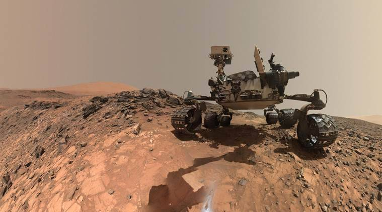 NASA's Curiosity rover , 5 years of Mars exploration , Mars exploration, Mount Sharp , long-ago lakes on Mars, Science and Technology news, indian express news