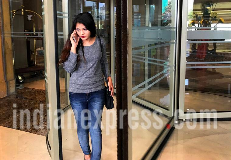 """Slum dog millionaire"" fame Actress Rubina Ali at Marriot hotel, Juhu after a private meeting with the movie director Danny Boyle on Monday. Express photo by Nirmal Harindran, 13th February 2017, Mumbai."
