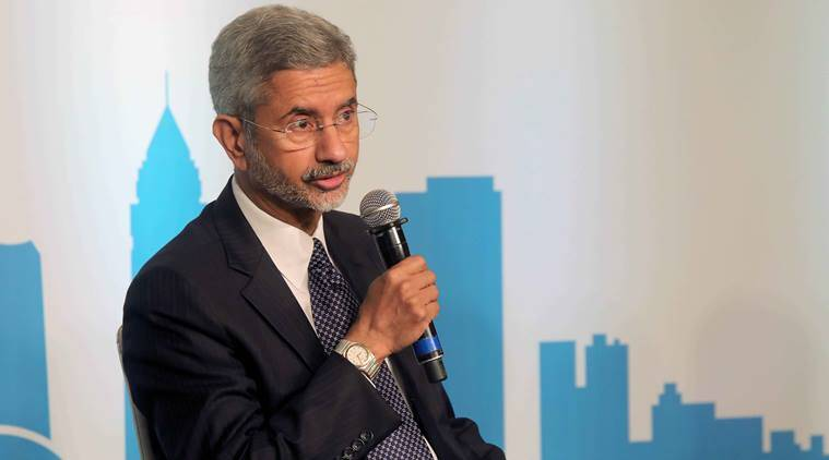 "Foreign Secretary S. Jaishankar (on left) in conversation with Dr C. Raja Mohan, Director Carnegie India during The gateway of India Geoeconomic Dialogue"" at Hotel Taj Mahal Palace in Colaba on Tuesday. Express photo by Nirmal Harindran, 14th february 2017, Mumbai."