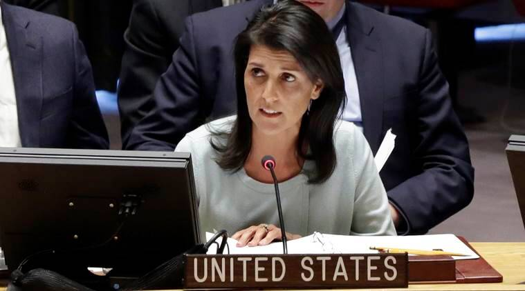 Israel-Palestine, Israel-palestine talks, US envoy, US Ambassador Nikki Haley, Israeli-Palestinian peace negotiations, United nations, world news, indian express news