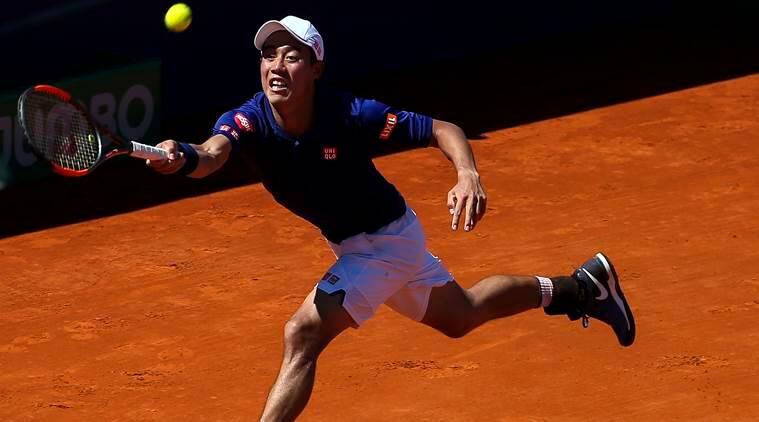 Nishikori survives two-set-blackout to win all-Asian battle