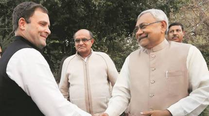 Nitish Kumar meets Rahul Gandhi amid alliance trouble, to meet PM Modi later