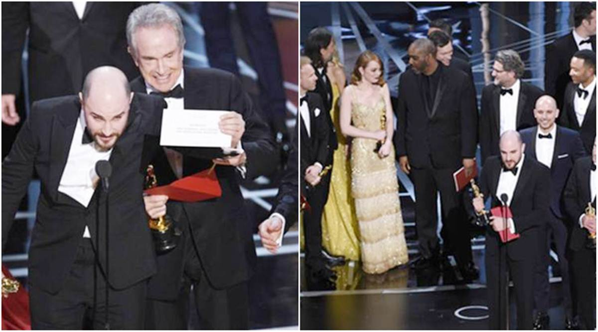 Oscars 2017 Goof Up La La Land Won And Lost As Pwc Partner Was Tweeting Emma Stone S Image Entertainment News The Indian Express