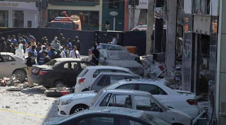 lahore blast, pakistan blast, lahore gas leakage blast, pakistan gas leakage blast, pakistan gas blast, pakistan news, lahore news, world news, indian express news