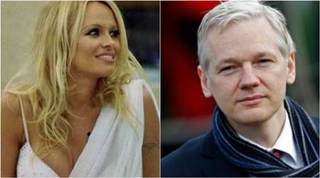 pamela anderson, pamela anderson wikileaks, pamela anderson hollywood actor, pamela anderson relationship, Julian Assange, pamela anderson Julian Assange, pamela anderson actor, pamela anderson love life, hollywood news, hollywood updates, entertainment news, indian express, indian express news