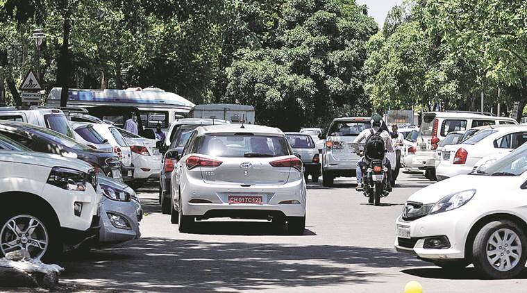 Chandigarh, parking issue, parking fee, paid parking lots in chandigarh, SUV, India news, Punjab news, Indian EXPRESS