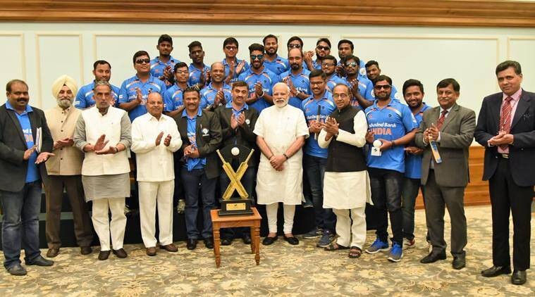 india blind cricket team, narendra modi, pm modi, prime minister narendra modi, pm narendra modi, prime minister modi, modi, india blind t20 world cup, india blind t20 team, india blind t20 world cup team, cricket news, cricket