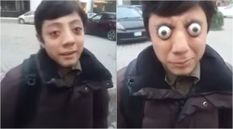 Video of Guy popping out eyes, pakistani guy popping out eyes, Guy popping out eyes, Duniya news, indian express, indian express news