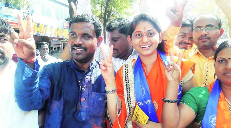 shiv sena, prachi alhat, 21 year old, youngest female candidate, PMC elections, pune civic elections, india news, indian express news