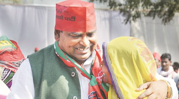 Gayatri Prasad Prajapati, gangrape, prajapati gangrape, uttar pradesh elections, up polls, up poll 2017, samajwadi party, mulayam singh, akhilesh yadav, gangrape, narendra moid, election politics, congress, amethi seat, indian express news, india news, elections updates