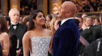 Priyanka's Oscar statement wowed Dwayne too. Here's their moment from red carpet, see pics