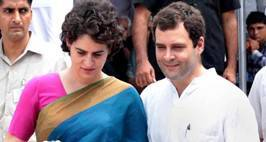 Rahul Gandhi and his sister Priyanka Gandhi during an event organised by Rajiv Gandhi Foundation at Jawahar Bhavan. *** Local Caption *** Rahul Gandhi and his sister Priyanka Gandhi during an event organised by Rajiv Gandhi Foundation at Jawahar Bhavan. Express photo by Renuka Puri.