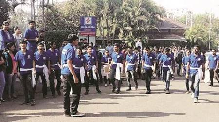 Pune: Students play their  part ahead ofpolling