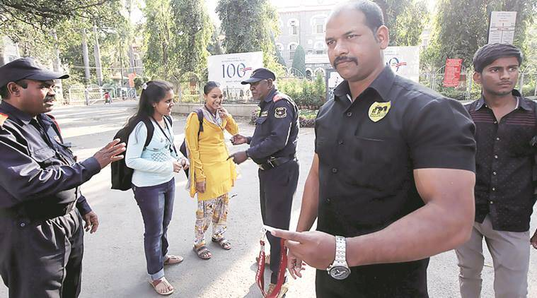 The decision to deploy bouncers has received mixed reactions from students and staffers.  Pavan Khengre and Rahul Yelgunde