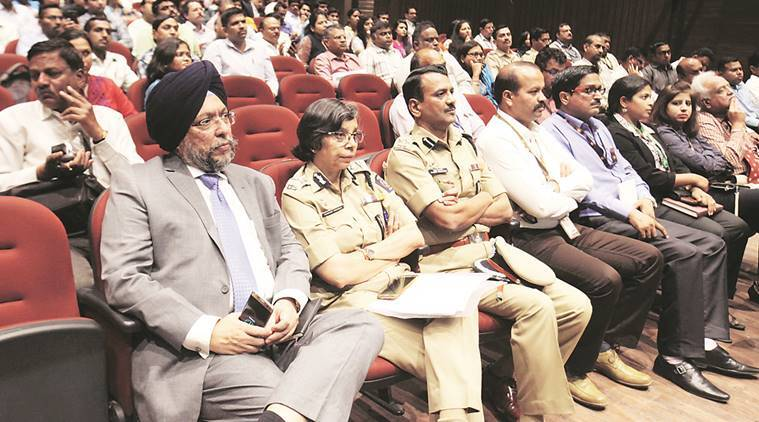 Pune Police Commissioner Rashmi Shukla with Additional Director-General of Police Jai Jeet Singh of Maharashtra State Security Corporation at Pandit Nehru Memorial Hall . Arul Horizon