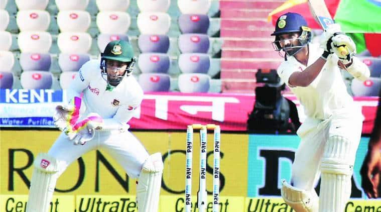 india vs bangladesh, ind vs bang, india test series, india test series latest update, indian batting lineup, indian batsmen, indian team, india test team, indian batsmen stance, indian batsmen wider stance, sanjay bangar, duncal fletcher, chris gayle, ajinkya rahane, virat kohli, cricket news