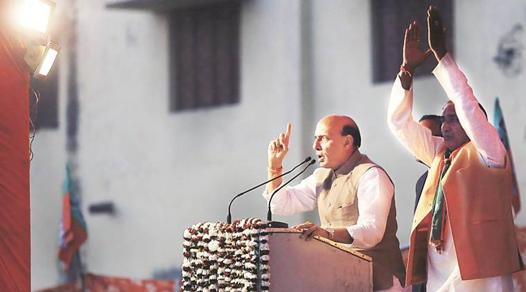 rajnath singh, up elections, uttar pradesh elections, up assembly elections, assembly elections 2017, BJP uttar pradesh, Congress SP alliance, Rajnath Singh in UP