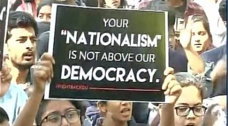 Ramjas college violence, Ramjas protests, ABVP, ABVP members, Ramjas college ABVP, RSS, AISF, CPM, CPI(ML), Jamaat-e-islaami, delhi university protests, Ramjas , Ramjas violece, Ramjas college violence, india news, indian epxress news
